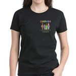 CHERUBS Logo - Pastel Women's Dark T-Shirt