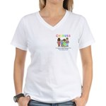 CHERUBS Logo - Pastel Women's V-Neck T-Shirt