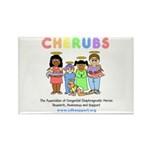 CHERUBS Logo - Pastel Rectangle Magnet (100 pack)
