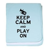 Keep Calm Baritone baby blanket