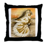 Yellow Splash English Trumpet Throw Pillow