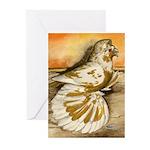 Yellow Splash English Trumpet Greeting Cards (Pk o