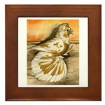 Yellow Splash English Trumpet Framed Tile