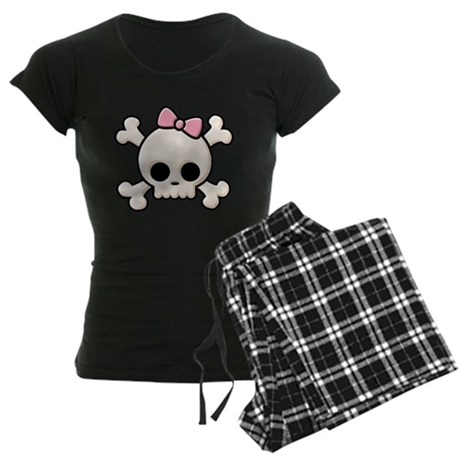 Cute Skull Girl Women's Dark Pajamas
