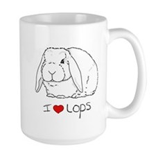 I Love Lops 2 Large Mug