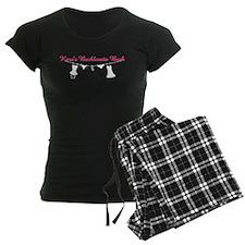 Pink Text White Image Pajamas