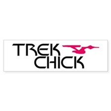 Trek Chick Bumper Sticker