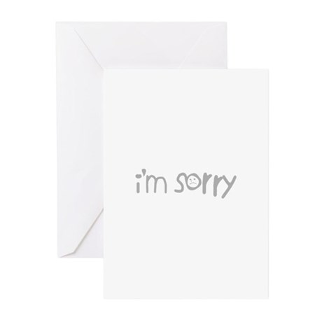 I'm Sorry Greeting Cards (Pk of 20)