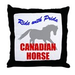 Ride With Pride Canadian Horse Throw Pillow