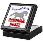 Ride With Pride Canadian Horse Keepsake Box