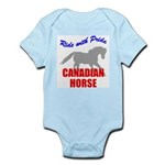 Ride With Pride Canadian Horse Infant Creeper