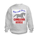Ride With Pride Canadian Horse Kids Sweatshirt