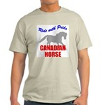 Ride With Pride Canadian Horse Ash Grey T-Shirt