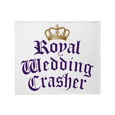 Royal Wedding Crasher Throw Blanket