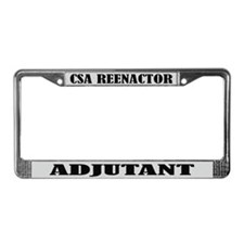 Reenactor CSA Adjutant License Frame