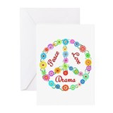Peace Love Drama Greeting Cards (Pk of 10)