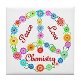 Peace Love Chemistry Tile Coaster