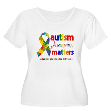 Autism Awareness Matters Women's Plus Size Scoop N