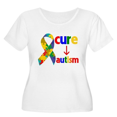 Cure Autism Women's Plus Size Scoop Neck T-Shirt