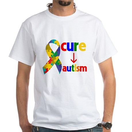 Cure Autism White T-Shirt