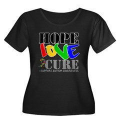 Hope Love Cure Autism Women's Plus Size Scoop Neck
