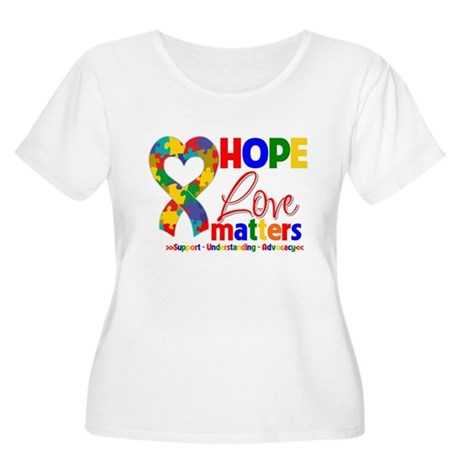 Hope Love Matters Autism Women's Plus Size Scoop N