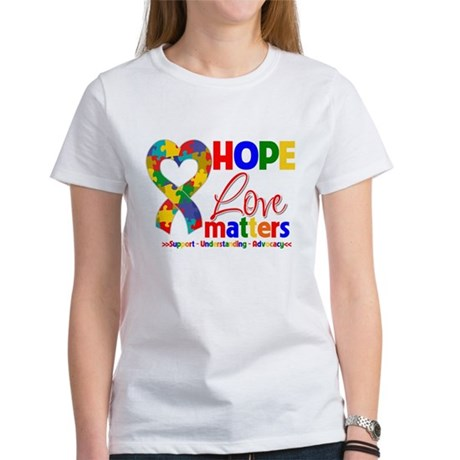 Hope Love Matters Autism Women's T-Shirt