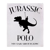 JURASSIC POLO Throw Blanket