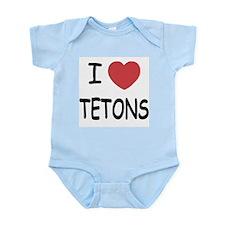 I heart tetons Infant Bodysuit