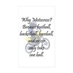 Why Motocross? Sticker (Rectangle 50 pk)