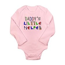 Daddys Little Helper Long Sleeve Infant Bodysuit