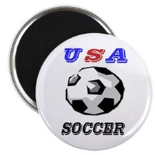 "Unique Usa flag soccer 2.25"" Magnet (100 pack)"