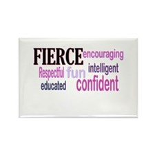 FIERCE Wordle Rectangle Magnet