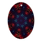 Tie Dye Art Oval Ornament