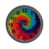 Tie Dye Swirl Wall Clock