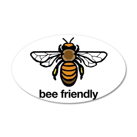 Bee Friendly 38.5 x 24.5 Oval Wall Peel