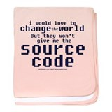 Source Code baby blanket