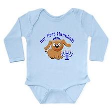 baby's first Hanukah Long Sleeve Infant Bodysuit