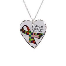 For My Son Autism Ribbon Necklace