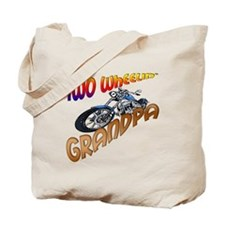 TWO WHEELIN' GRANDPA Tote Bag
