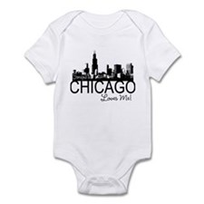 Someone in Chicago Loves Me S Infant Bodysuit