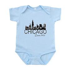 Someone in Chicago Loves Me S Infant Bodysuit