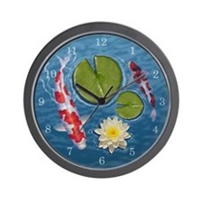 Koi ponds Wall Clock