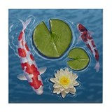 Cool Lily pad Tile Coaster