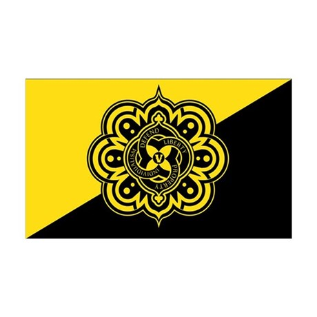 AnCap Voluntaryist Flag 38.5 x 24.5 Wall Peel