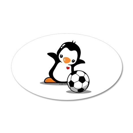 I Like Soccer 20x12 Oval Wall Decal