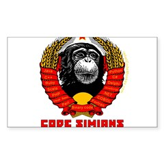 Code Simians of the World, Unite! Sticker (Rectang