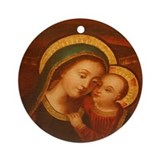 Our Lady of Good Counsel Ornament (Round)