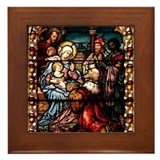 Adoration of the Magi Framed Tile