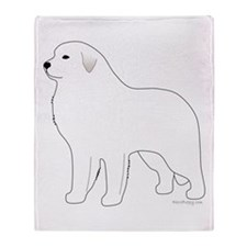 Great Pyrenees Outline Throw Blanket